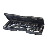 "Silverline 1/2"" Drive Metric & Imperial Socket Wrench Set - 42 piece"