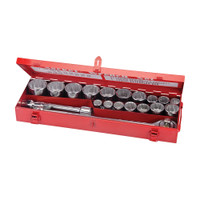 "Silverline 3/4"" Drive Metric Socket Wrench Set - 21 piece"