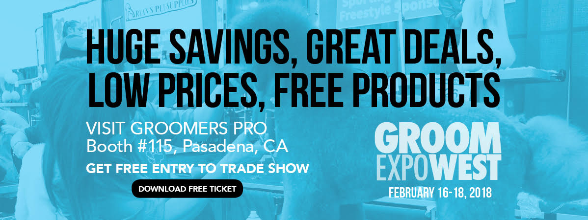 Booth 115. Groom Expo West. February 16-18, 2018. Download Free Entry Ticket to Trade Show
