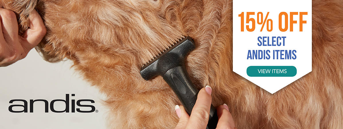 15% Off Select Andis Blades and Premium Grooming Tools