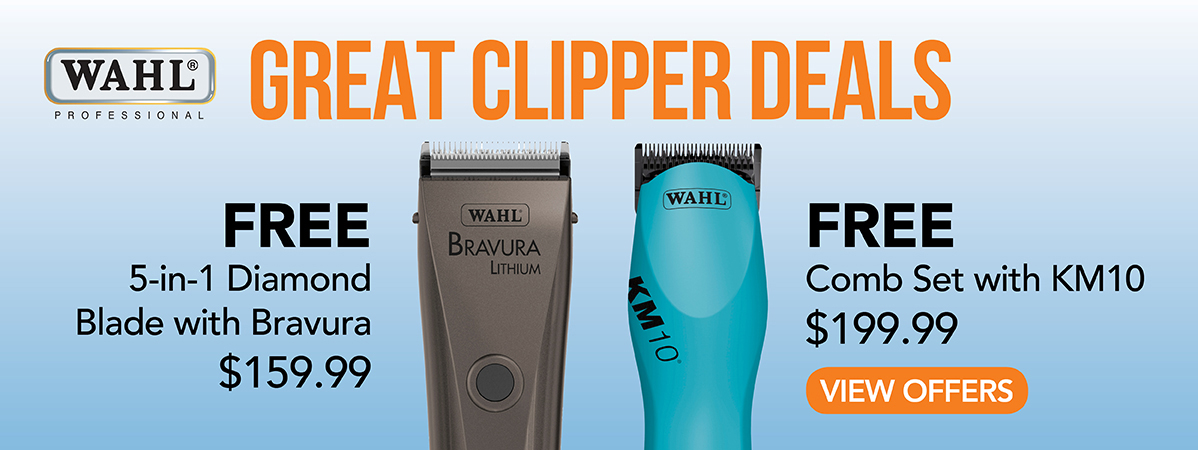 Free 5-in-1 Diamond Blade with Bravura. Free Comb Set with KM10 Clipper.