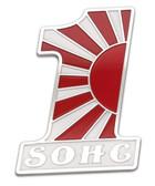 Billet Gas Tank/Side Panel SOHC Emblem