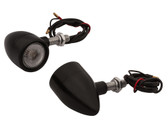 Billet Turn Signals - Pair - Black