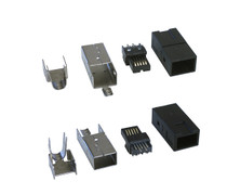 1394b FireWire Bilingual Connector Plug-kit with Metal Shell