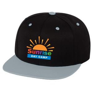 Flat Brim Premium Snapback Cap