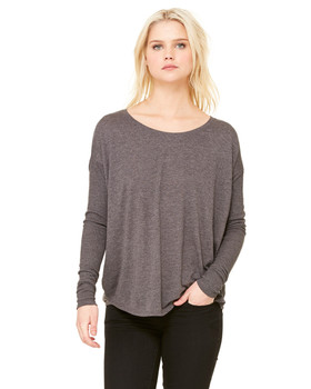 Bella Ladies' Flowy Long-Sleeve T-Shirt with 2x1 Sleeves