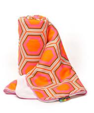 Baby Blanket with Fleece lining in Hexagonal