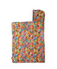 Baby Hooded Towel lined with Terry in Mosaic