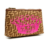 Travel Clutch Bag with Crown design
