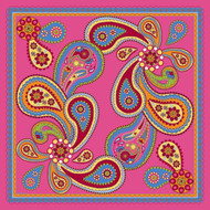 Silk Twill Scarf in Kashmir Pink