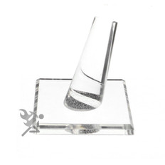 Clear Acrylic Single Finger Ring Jewelry Display Stands, Square Base