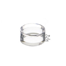 """1"""" x 1/2"""" Clear Acrylic Beveled Ring Display Stands"""