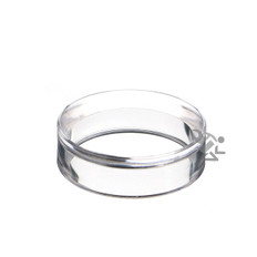 "1-5/8"" x 1/2"" Clear Acrylic Beveled Ring Display Stands"