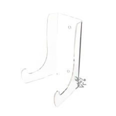 """6"""" Heavy Duty Clear Acrylic Plate Display Stands"""