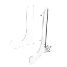 """7.5"""" Heavy Duty Clear Acrylic Plate Display Stands"""