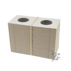Cardboard & Mylar 2x2 Quarter Coin Flips Qty: 100
