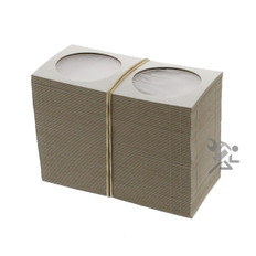 Cardboard & Mylar 2x2 Large Dollar Coin Flips Qty: 100