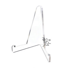 """3-3/8"""" Clear Acrylic Display Stand Easels with 3/4"""" Shelf"""