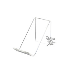 "2-3/4"" Clear Acrylic Slanted Display Stand Easels"