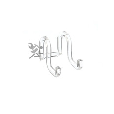 """Clear Acrylic Plate Display Stand, 2"""" Ribbon Easels"""