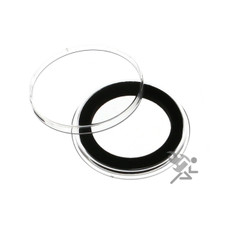30mm Black Ring Air-Tite Coin Capsules for US Half Dollars