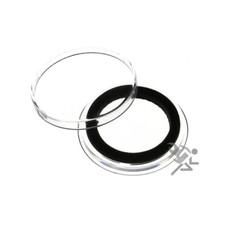 24mm Black Ring Air-Tite Coin Capsule Holders for US Quarters