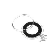 17mm Black Ring Air-Tite Brand Coin Capsule Holders