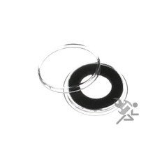 15mm Black Ring Air-Tite Brand Coin Capsule Holders