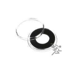 14mm Black Ring Air-Tite Coin Capsule Holders for 1/20oz Gold Nugget