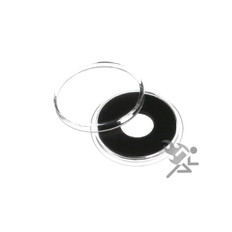 11mm Black Ring Air-Tite Brand Coin Capsule Holders