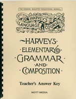 Harvey's Elementary Grammar and Composition, Answer Key