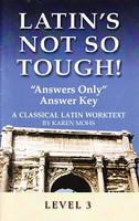 """Latin's Not So Tough! Answers Only"""" Answer Key, Level 3"""