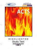 Bible Bowl: ACTS (ESV) highlighted study text & worksheets