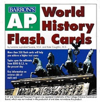 Barron's AP World History, 350 Flash Cards Set