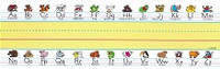 Animal Manuscript Sentence Strips