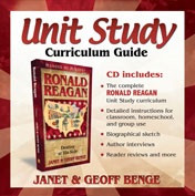 Ronald Reagan Unit Study Curriculum Guide CD