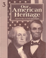 Our American Heritage 3, Text Answer Key