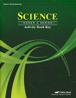 Science 7: Order & Design, Activity Key