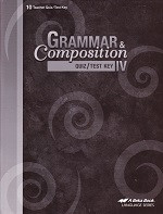 Grammar & Composition IV (10), Quiz-Test Key