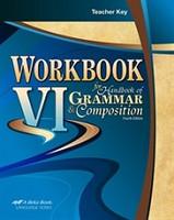 Grammar & Composition 12, Workbook VI 4th ed., Teacher Key