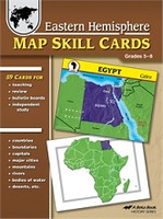 Eastern Hemisphere Map Skill Cards, Grades 5-8