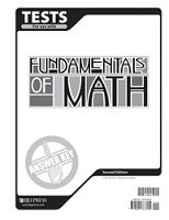 Fundamentals of Math 7, 2d ed., Test Key