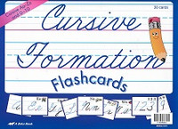Cursive Formation Flashcards Aa-Zz and 0-10