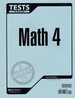 Math 4, 2d ed., Tests & Test Key Set