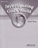 Investigating God's World 5, Test Key