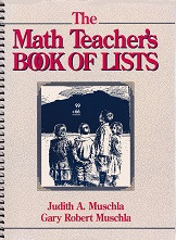 Math Teacher's Book of Lists