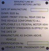 Mfg. ID Plate