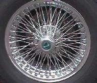 Chrome Hex Wheel Cap