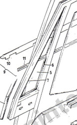 72399 Vent Glass Seal Forward/bottom-Long