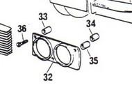 75699 Spacer Center, headlight screw